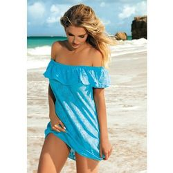 Sukienka - pareo self d 56s rozmiar: xl/xxl, kolor: biały, self