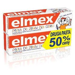 Elmex DUOPAK Pasta do zębów elmex Dla dzieci 0-6 LAT pojemność 2 x 50ml