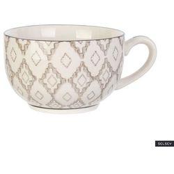 SELSEY Kubek ceramiczny Frechles w jasny wzór 350 ml