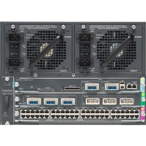Switche i huby, WS-C4503-E Switch Cisco Catalyst 4500-E 3-slot Chassis, fan, no p/s