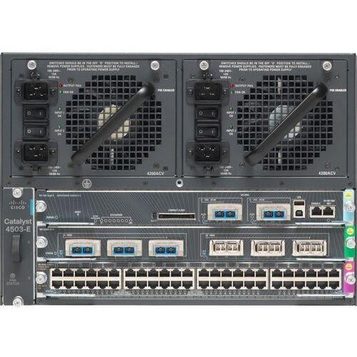 Switche i huby, WS-C4503-E Switch Cisco Catalyst 4500-E 3-slot Chassis, fan, no p/s