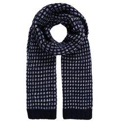Calvin Klein MARY HEAVY SCARF Szal black/powder white/ombre blue