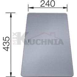 Deska do krojenia ze srebnego szkła hartowanego Blanco - 227699