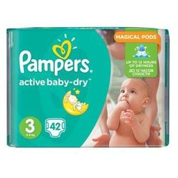 PAMPERS Active Baby pieluchy 3 Midi 42szt pieluszki | DARMOWA DOSTAWA OD 150 ZŁ!