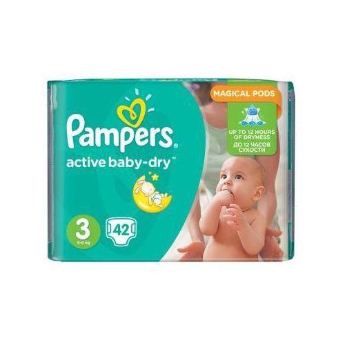 Pieluchy jednorazowe, PAMPERS Active Baby pieluchy 3 Midi 42szt pieluszki   DARMOWA DOSTAWA OD 150 ZŁ!