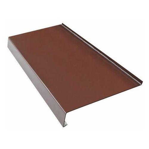 Parapety, Parapet zewnętrzny stalowy Fola 20 x 200 cm brązowy