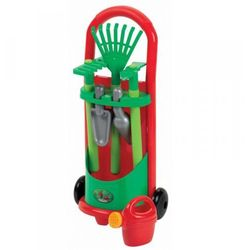 Smoby - Ecoiffier Zestaw narzędzi ogrodowych z wózkiem