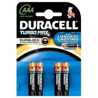 Pozostałe akcesoria do TV, Baterie DURACELL Turbo Max AAA 4szt.