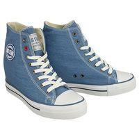 Damskie obuwie sportowe, BIG STAR U274901 niebieski, trampki, sneakersy damskie - Niebieski