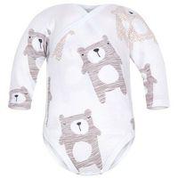 Body niemowlęce, Body kopertowe niemowlęce z długim rękawem Białe Koala - Dolce Sonno