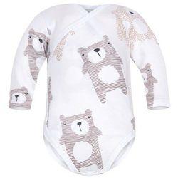 Body kopertowe niemowlęce z długim rękawem Białe Koala - Dolce Sonno