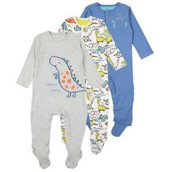 mothercare BOYS DINO HANGING SLEEPSUITS 3 PACK Piżama brights multi
