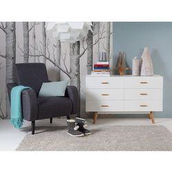 Fotel ciemnoszary - do salonu - tapicerowany - stylowy - BANGOR