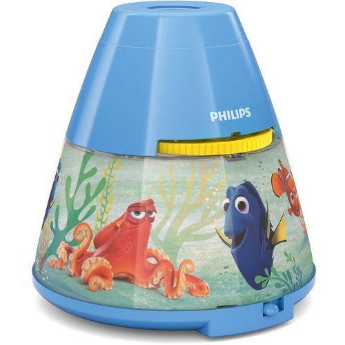 Lampki biurkowe, Philips 71769/90/16 - Projektor dziecięcy DISNEY FINDING DORY LED/0,1W/3xAAA