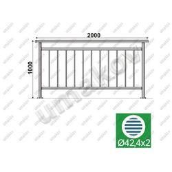 Balustrada nierdzewna pionowa VR AISI304, D42,4/d1