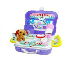 Walizka plecak psi salon piękności akcesoria 20 elementów