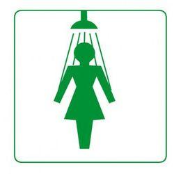 Plastikowa tabliczka na drzwi - Prysznic damski