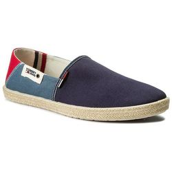 Espadryle TOMMY HILFIGER - JEANS Summer Slip On Shoe EM0EM00027 Ink/Jeans/Tango Red 902