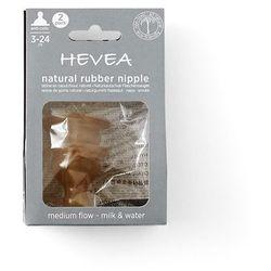 Smoczek kauczukowy antykolkowy do butelki średni przepływ 2 pak Hevea