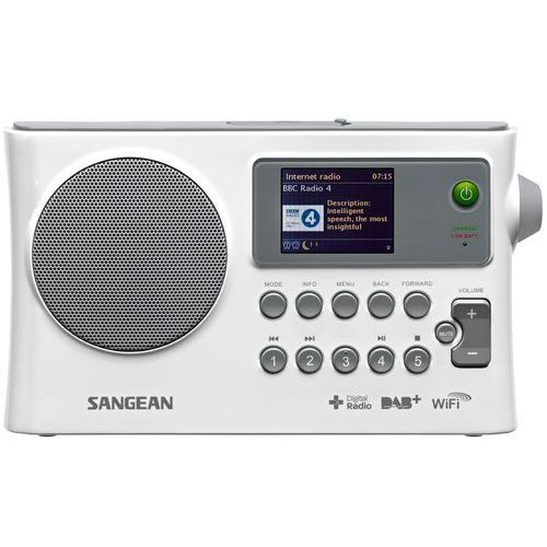 Radioodbiorniki, Radio internetowe, przenośne Sangean WFR-28C, WiFi, Internet, DAB+, FM, biały