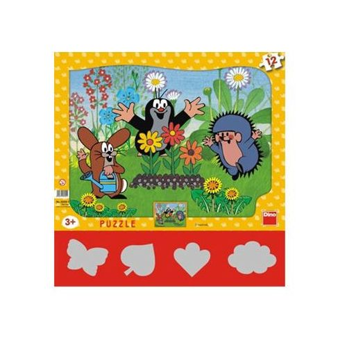 Puzzle, Krtek zahradník - Puzzle 12 tvary neuveden