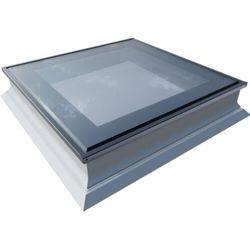 Okno do dachów płaskich OKPOL PGX B1 PVC 100x150 nieotwierane 3-szybowe