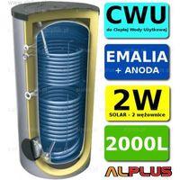 Pozostałe ogrzewanie, ZASOBNIK LEMET 2000L z 2 wężownicami, solarny, do podgrzewania wody użytkowej, emaliowany +anoda