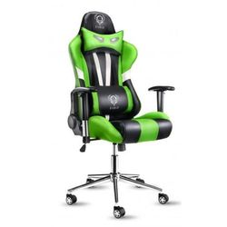 Fotel DIABLO X-Eye Czarno-biało-zielony + Zamów z DOSTAWĄ JUTRO! + DARMOWY TRANSPORT!