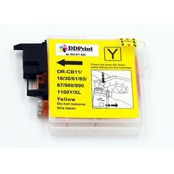 LC1100Y / LC980Y Tusz żółty do drukarek Brother dcp-145 / 165 / 195 / 365 / Nowy zamiennik / 20ml.
