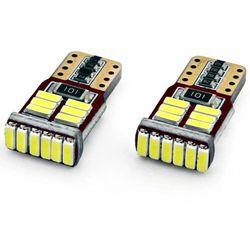 Żarówki CANBUS 18 x LED T10e W5W ZESTAW