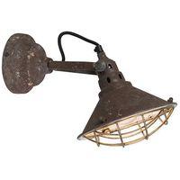 Kinkiety, Vintage lampa ścienna i sufitowa brązowa uchylna - Barrack
