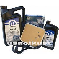 Filtry oleju do skrzyni biegów, Olej MOPAR ATF+4 oraz filtr oleju skrzyni biegów 42RE Jeep Cherokee XJ