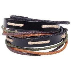 Bransoletka męska sznurek kolorowa