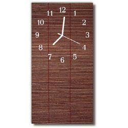 Zegar Szklany Pionowy Bambus roleta brązowy