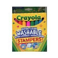 Mazaki i flamastry, Crayola Flamastry ministempelki 8 sztuk