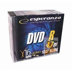Płyty DVD-R Esperanza 4.7GB 16x Speed (Slim 10 szt.)