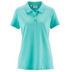 Shirt polo z rękawami 1/2 bonprix zielony oceaniczny