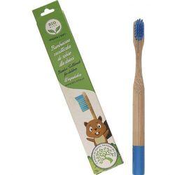 BIOMIKA bambusowa szczoteczka do zębów dla dzieci kolorowa