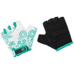 Rękawiczki dziecięce Accent Flowers Kids biało-zielone L/XL