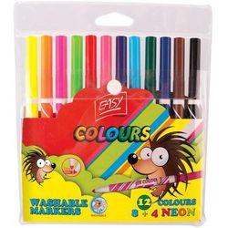 Pisaki spieralne 8+4 kolory EASY