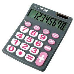 Kalkulator 8-pozycyjny z dużymi klawiszami szary