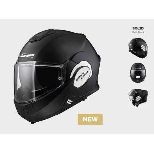 Kaski motocyklowe, KASK MOTOCYKLOWY LS2 FF399 VALIANT MATT BLACK (1)B/P