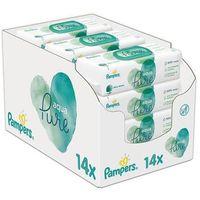 Pieluchy jednorazowe, Pampers chusteczki nawilżane dla dzieci 14x Aqua Pure - 48 szt.