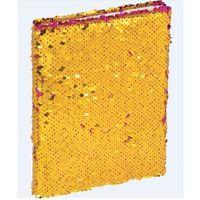 Zeszyty, Brulion A5/96K z cekinami różowo - złoty GRAND
