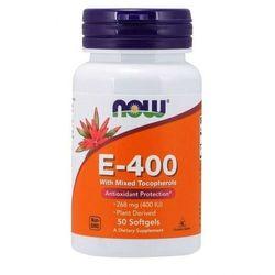 NOW Foods Witamina E-400 - Naturalne (mieszane tokoferole) - 100 kapsułek