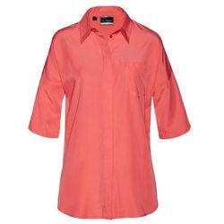 Shirt z koronką, krótki rękaw bonprix niebieski mineralny
