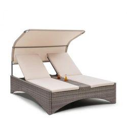 Blumfeldt Eremitage Double Lounger, leżak 2-osobowy, aluminium/rattan szarobrązowy