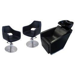 Zestaw Mebli Fryzjerskich - Myjnia Vasto Z Czarną Misą + 2 x Fotele Segni