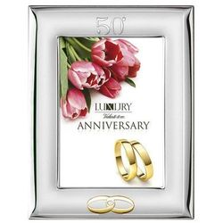 Ramka na zdjęcia na 50 rocznicę ślubu, tył z drewna - (VL#52009)