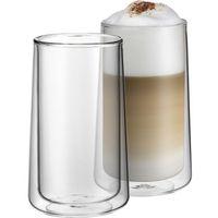 Szklanki, WMF Coffe Time - Zestaw 2 szklanek do latte 270ml, podwójne ścianki